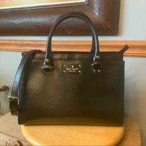 Kate Spade large Wellesley Quinn bag in black